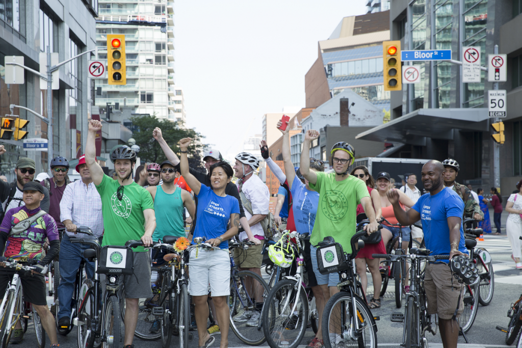 Councillor Krystin Wong-Tam at Open Streets TO